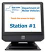 DMV station #1 computer monitor